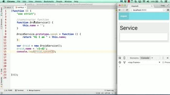 AngularJS tutorial about Services, Factories, and Providers: Creating a Service