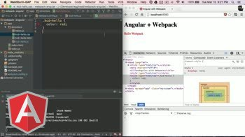 angularjs tutorial about Angular with Webpack - Requiring CSS & Preprocessors