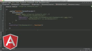 AngularJS tutorial about AngularJS Architecture: Edit and Create Bookmark States