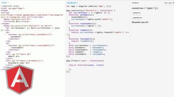 AngularJS tutorial about Extract predicate methods into filters for ng-if and ng-show
