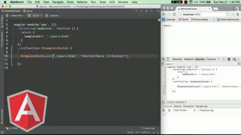 angularjs tutorial about Taking control of your templates using $templateCache