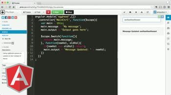 angularjs tutorial about Using ngModelOptions to Update on Blur