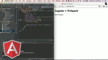 angularjs tutorial about Angular with Webpack - ES6 with BabelJS