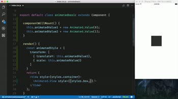 AngularJS tutorial about Animate a Sequence of React Native Animations with Animated.sequence