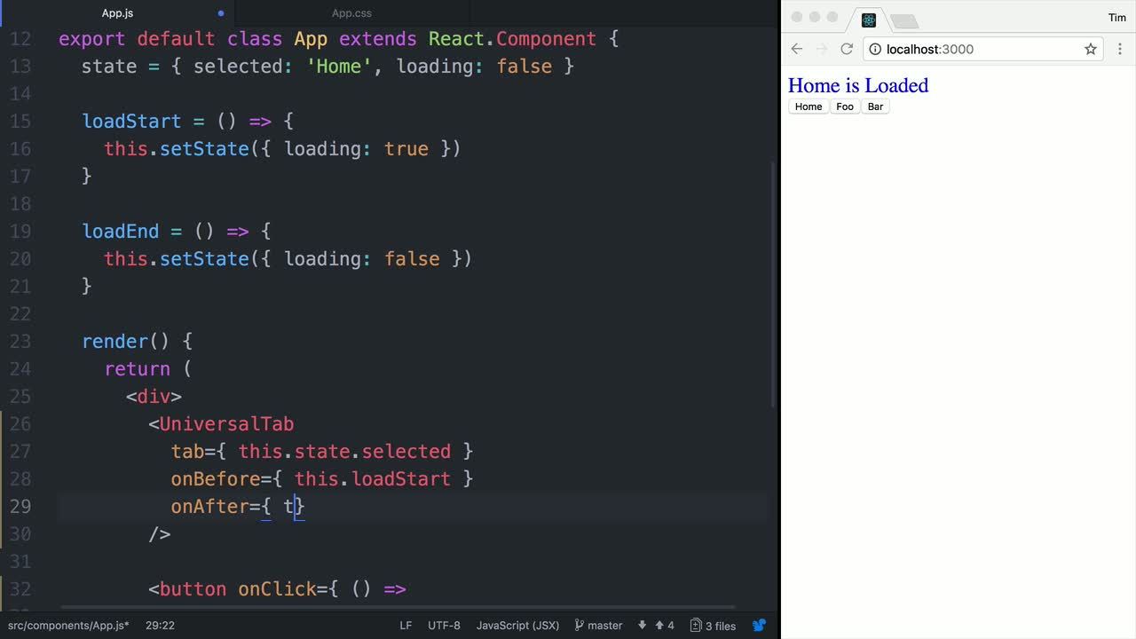 react tutorial about Animate a Universal React Loading Component using Delay Options and Component Hooks
