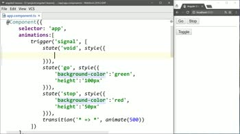 AngularJS tutorial about Animate Adding and Removing Angular 2 Elements with ngIf