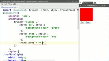 angular2 tutorial about Animate Between Angular 2 States Using Transitions