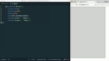 AngularJS tutorial about Animate Transitions in D3 v4