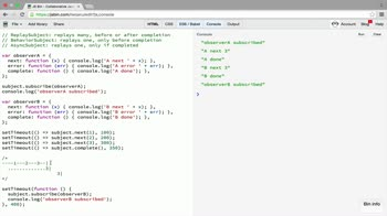 AngularJS tutorial about AsyncSubject: representing a computation that yields a final value