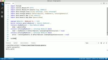 purescript tutorial about Automatically de/serialize JSON with Purescript-Foreign-Generics