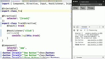 angular2 tutorial about Build a Directive that Tracks User Events in a Service in Angular 2