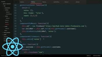react tutorial about Building a React.js App: Using ReactFire to Add Data Persistence