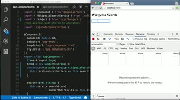 angular2 tutorial about Debounce the user input in Angular 2 using debounceTime