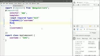 AngularJS tutorial about Check ngModel Validation in Angular 2