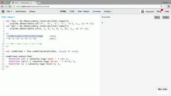AngularJS tutorial about Combination operator: withLatestFrom
