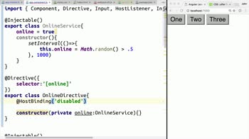 AngularJS tutorial about Combine HostBinding with Services in Angular 2 Directives