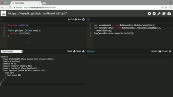 js tutorial about Compile C Code into WebAssembly