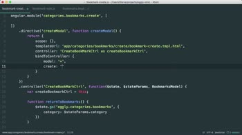 angularjs tutorial about Convert a UI Route into an Angular Directive