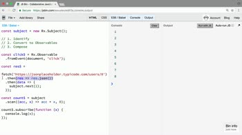rxjs tutorial about Convert an underlying source of data into an Observable