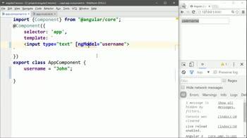 AngularJS tutorial about Create a Basic Angular 2 ngModel Input