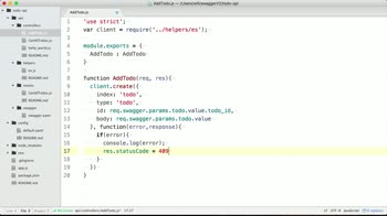 openapi tutorial about Create a Node.js function for an HTTP POST request for a Swagger API