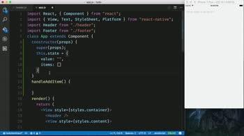 AngularJS tutorial about Create a React Native TextInput