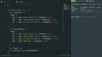 react tutorial about Create a Redux-Style Reducer Function