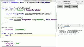 AngularJS tutorial about Create a Template Storage Service in Angular 2