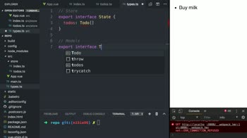 vue tutorial about Create a Vuex Store using TypeScript