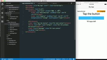angular tutorial about Create native mobile views using NativeScript XML