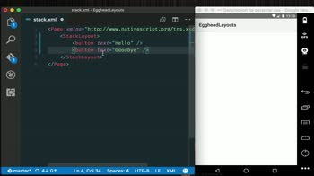 angular tutorial about Create Vertical/Horizontal Layouts with StackLayout