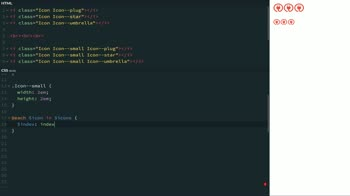 css tutorial about Automate SVG Sprite Background Image Variations with a SCSS Mixin