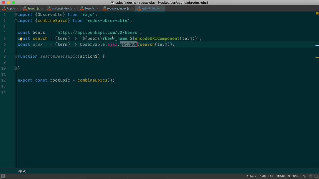 react tutorial about Debounce user input to avoid repeated Ajax requests