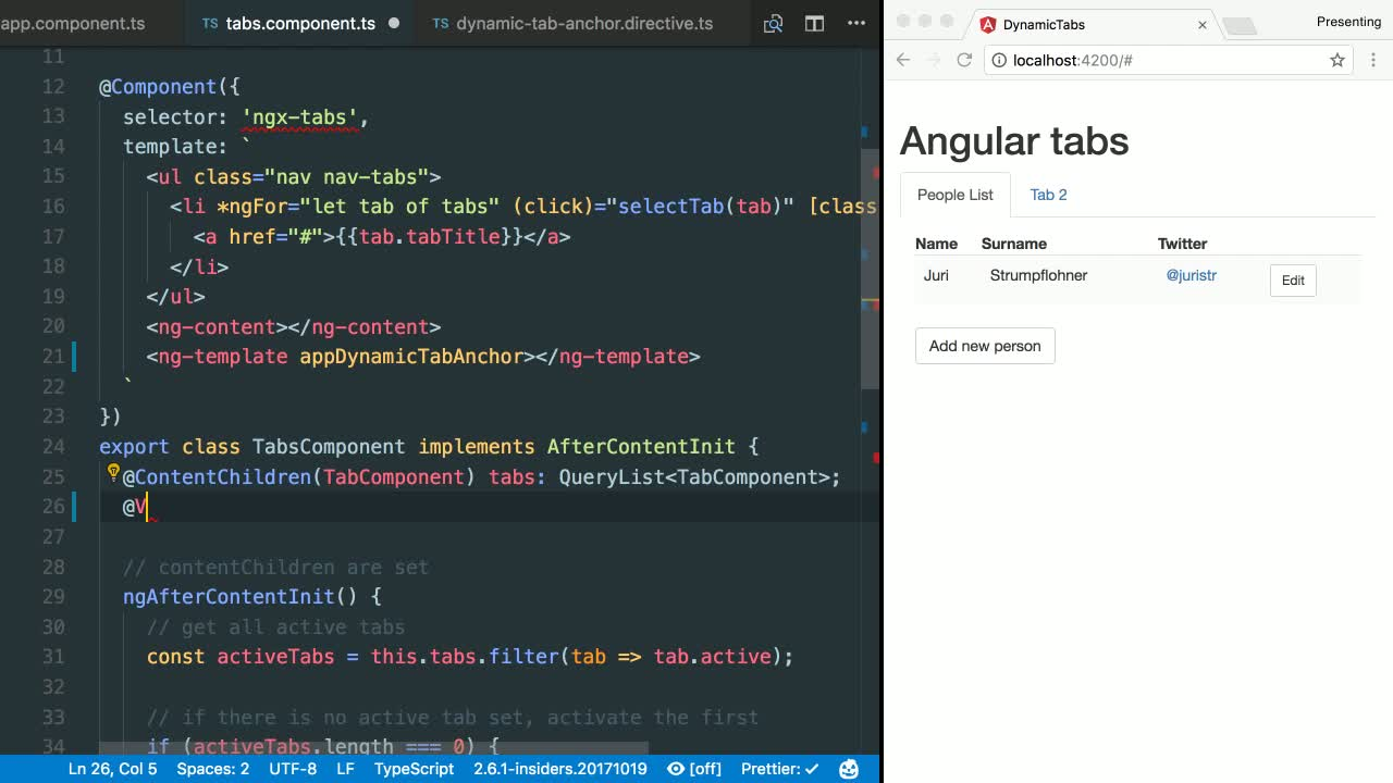 angular tutorial about Define an Anchor Point Where to Render Dynamic Components in Angular