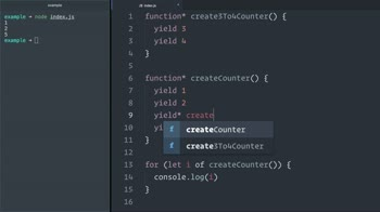 javascript tutorial about Delegate JavaScript (ES6) generator iteration control