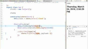 angular2 tutorial about Dispatching Action Payloads to Reducers