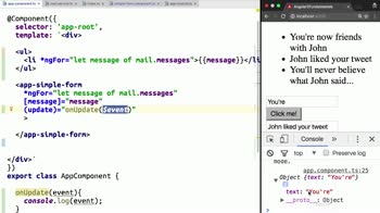 AngularJS tutorial about Pass Events from Angular 2 Components with @Output