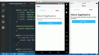 angular2 tutorial about Display lists using NativeScript's ListView component