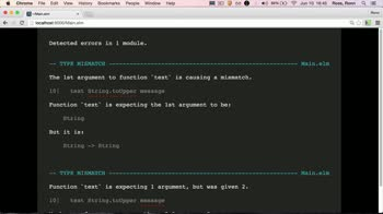 elm tutorial about Functions in Elm