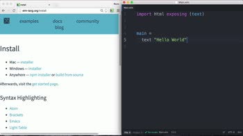 elm tutorial about Installing and setting up Elm