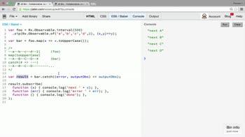 AngularJS tutorial about Error handling operator: catch
