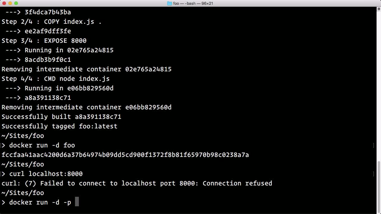 docker tutorial about Export Services with Docker Port Binding