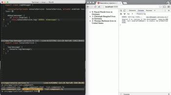 AngularJS tutorial about Factory Providers with dependencies