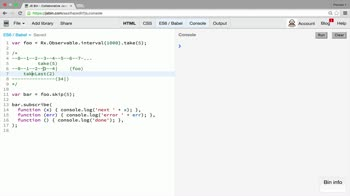 AngularJS tutorial about Filtering operators: takeLast, last