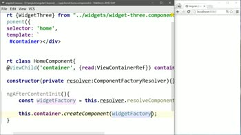angular2 tutorial about Generate Angular 2 Components Programmatically with entryComponents