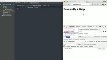 js tutorial about Gulp and Browserify - Adding Babel & Source Maps