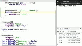 AngularJS tutorial about Handle Events with Angular 2 Directives