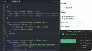 vue tutorial about Handle Forms Connected to a Vuex Store using TypeScript