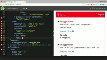 node tutorial about Define an HTTP POST Endpoint for a Node.js Server with Swagger