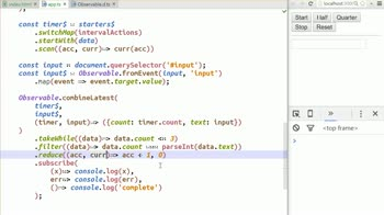 AngularJS tutorial about Handling a Complete Stream with Reduce